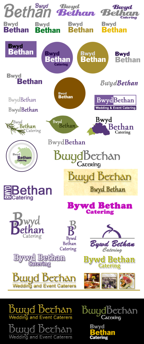 Branding Design Ideas Presented to Bwyd Bethan Catering