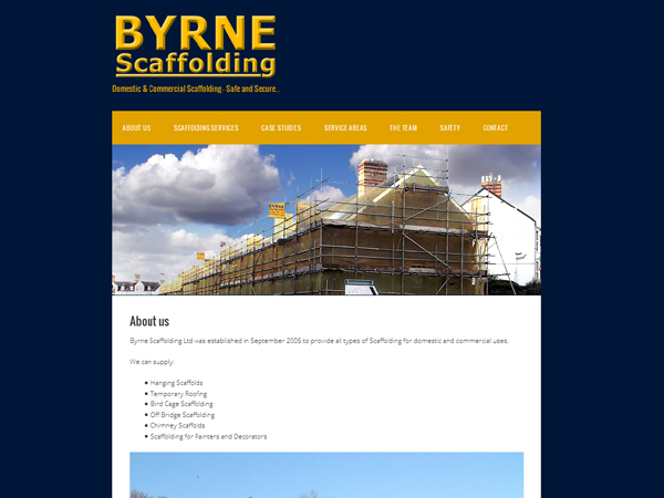 Byrne Scaffolding Machynlleth West Wales - Websites