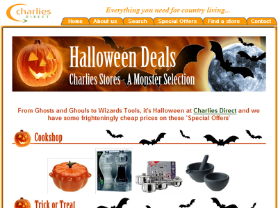 Halloween Deals e-Newsletter eMarketing - Newtown, Powys