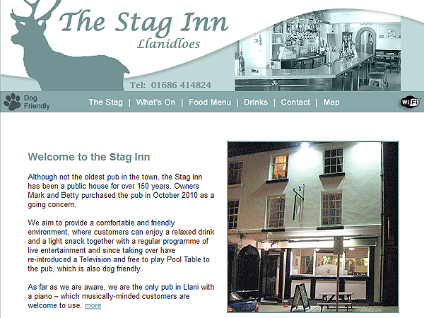 The Stag Inn Llanidloes - Website Design - Llanidloes, Powys